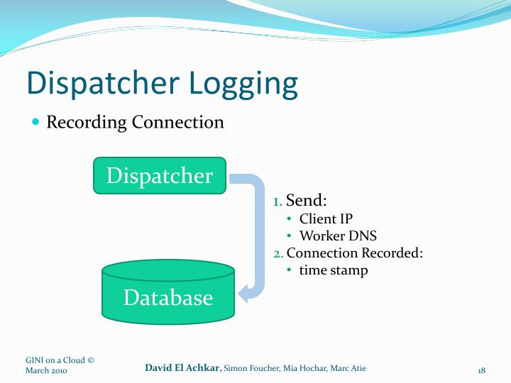 Dispatcher Logging