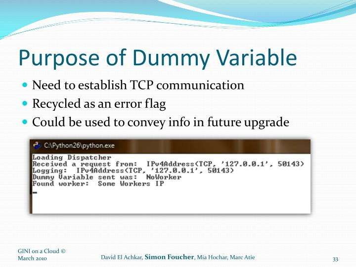 Purpose of Dummy Variable