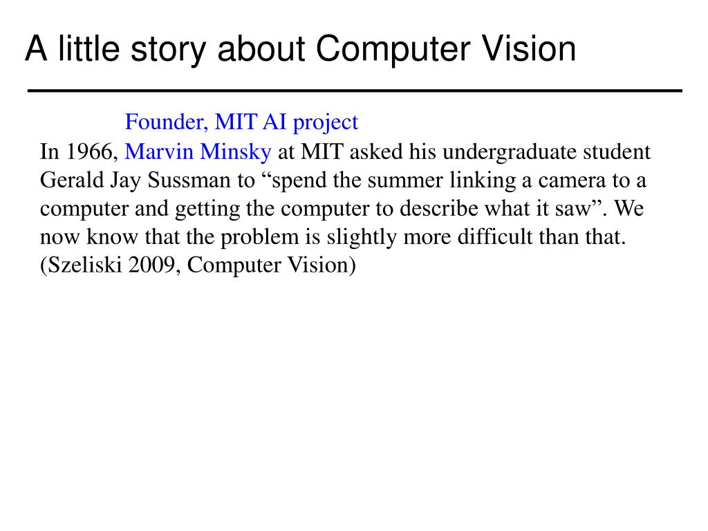 PPT - Components of a computer vision system PowerPoint Presentation