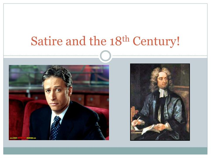 satire and the 18 th century n.