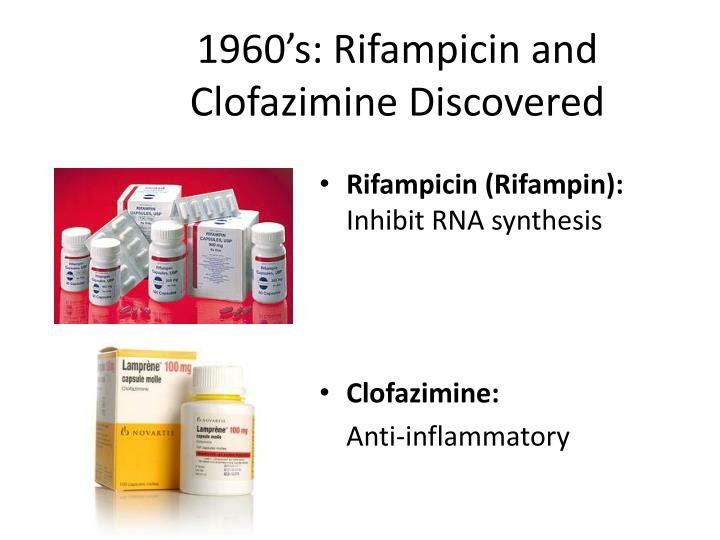 1960's: Rifampicin and Clofazimine Discovered