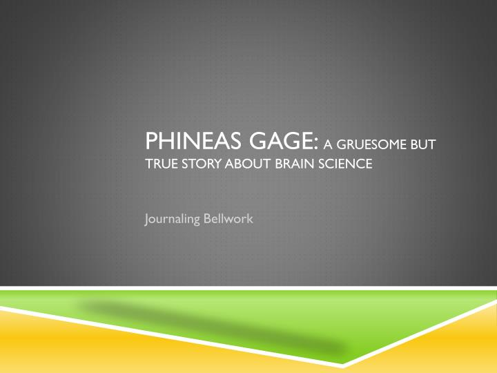 phineas gage a gruesome but true story about brain science n.