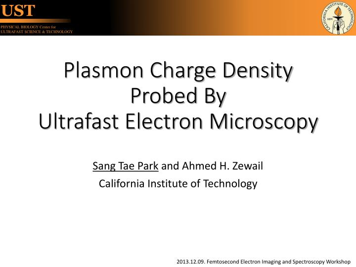 plasmon charge density probed by ultrafast electron microscopy n.