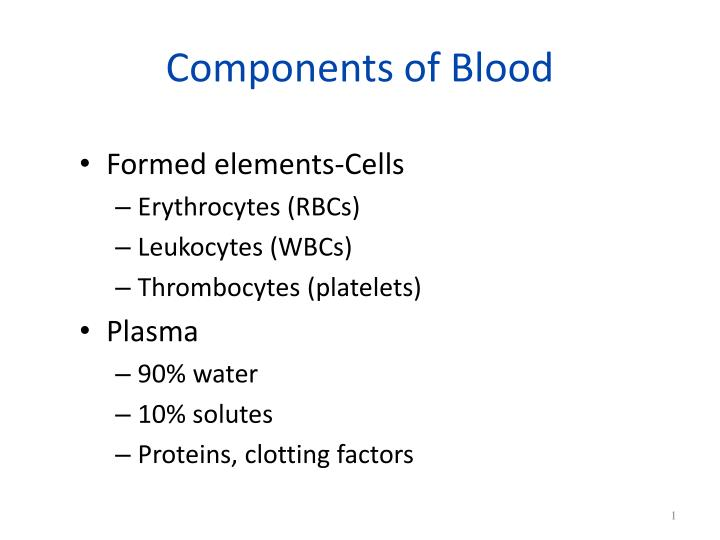 components of blood n.