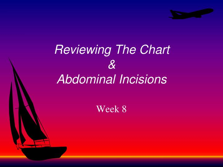 reviewing the chart abdominal incisions n.