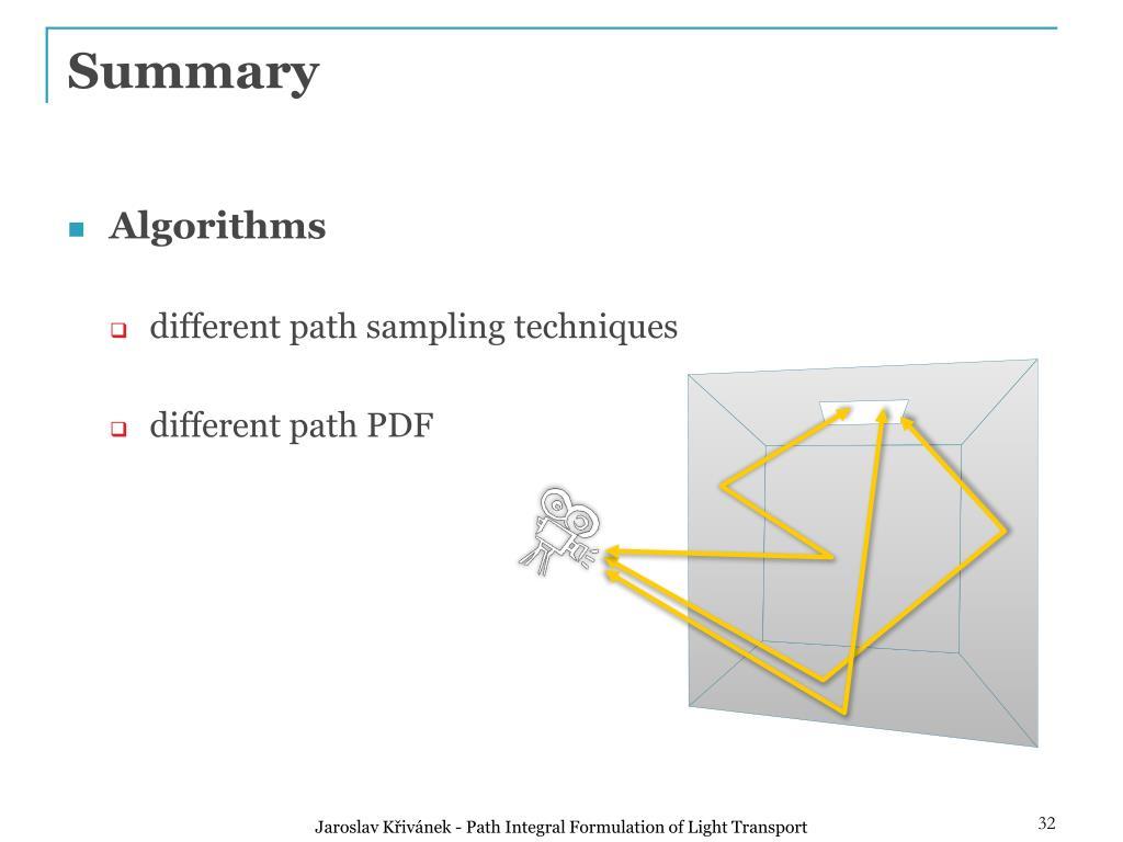 PPT - Path Integral Formulation of Light Transport PowerPoint