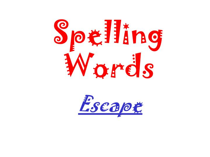 spelling words n.
