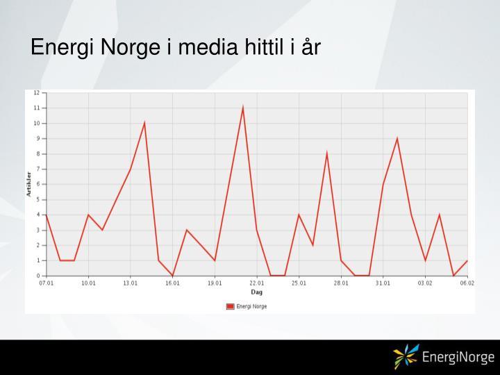Energi Norge i media hittil i år