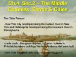 ch 4 sec 2 the middle colonies farms cities3