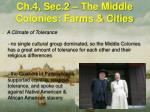 ch 4 sec 2 the middle colonies farms cities5