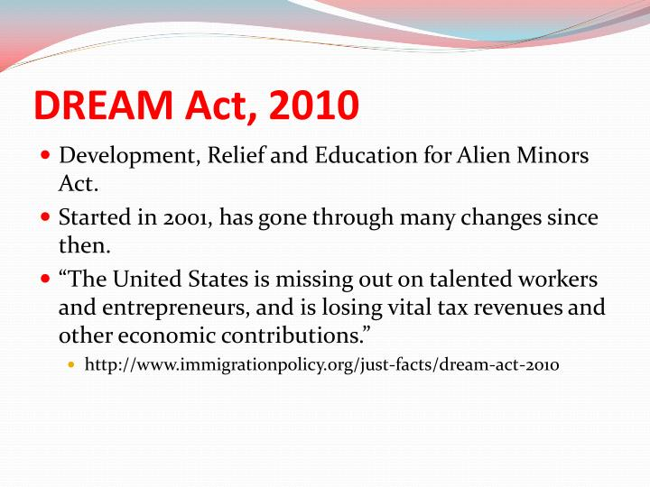 the development relief and education for alien The article discusses the us development, relief, and education for alien minors (dream) act it presents facts on undocumented students in the country who suffer psychosocial-educational problems including fear of deportation and loneliness.