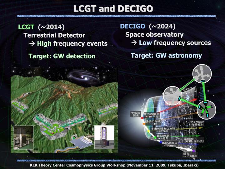 LCGT and DECIGO
