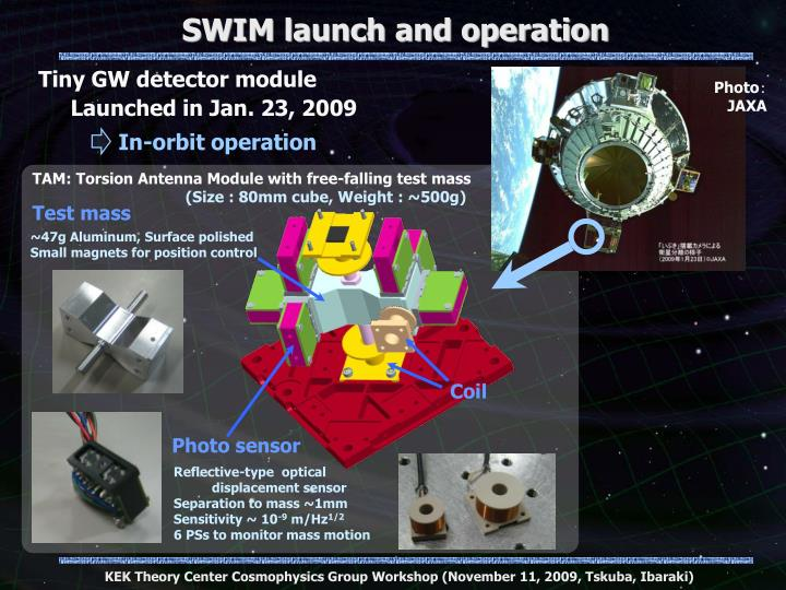 SWIM launch and operation
