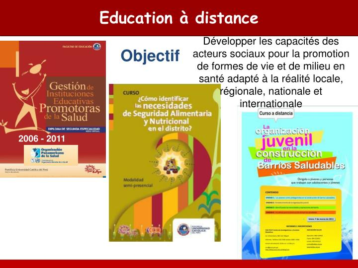 Education à distance