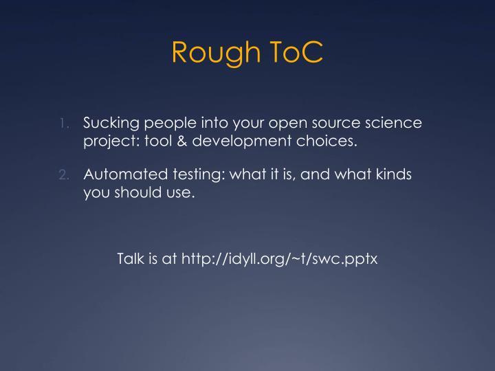 Rough toc