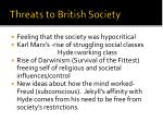 threats to british society