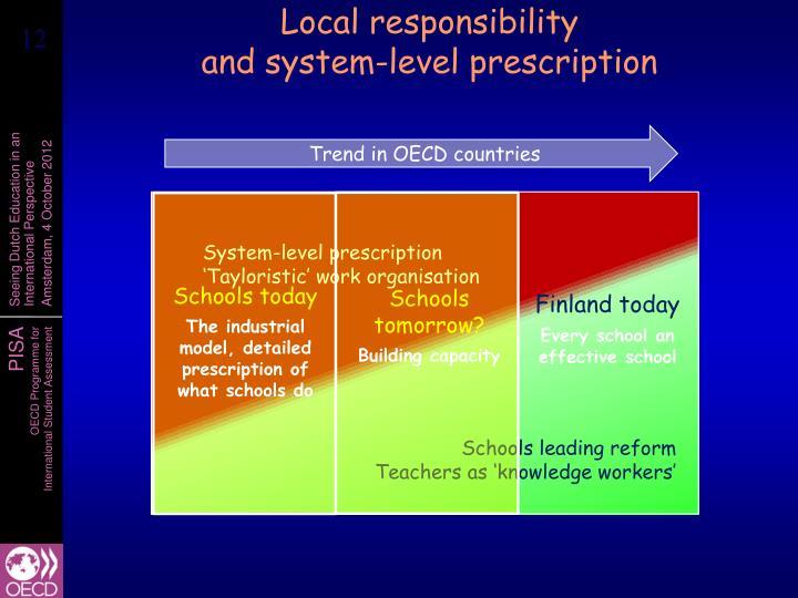 Local responsibility