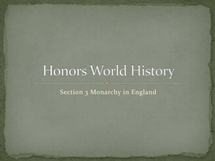 honors world history n.