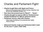 charles and parliament fight
