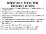 english bill of rights 1688 declaration of rights