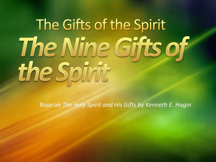 the gifts of the spirit n.