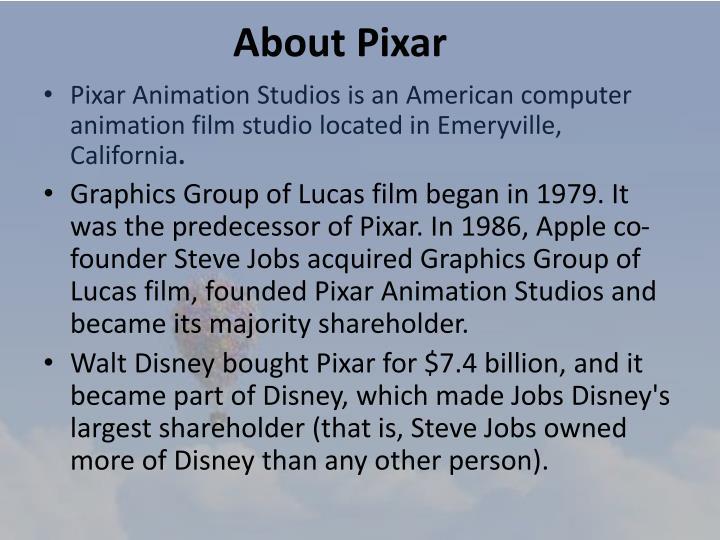 About Pixar