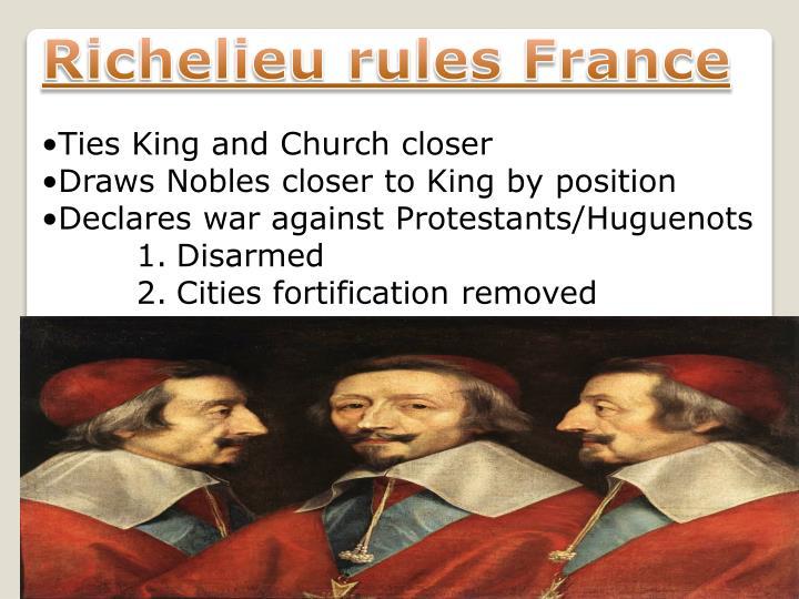 Richelieu rules France