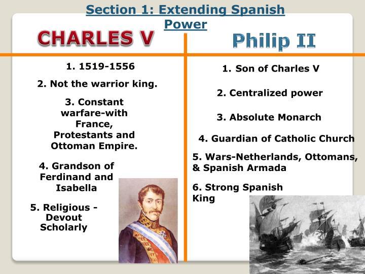 Section 1: Extending Spanish Power