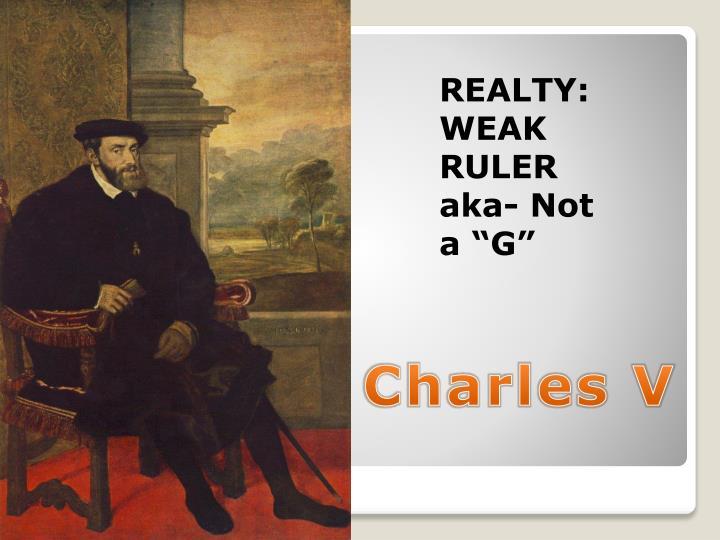 REALTY: WEAK RULER