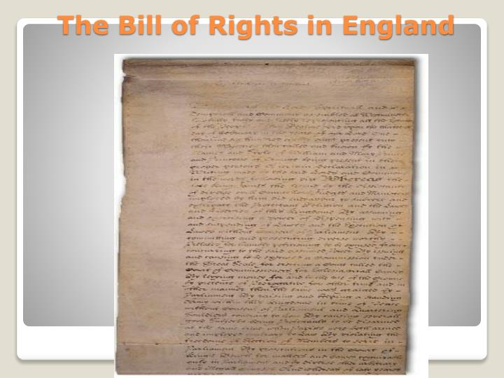 The Bill of Rights in England