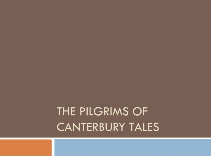 the pilgrims of canterbury tales n.