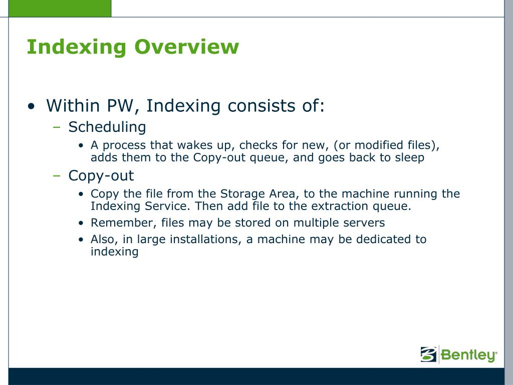 PPT - ProjectWise 101 – Chapter 9 Document Indexing