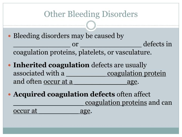 Other Bleeding Disorders