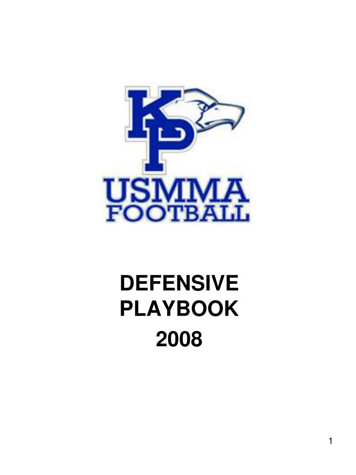 defensive playbook 2008 n.