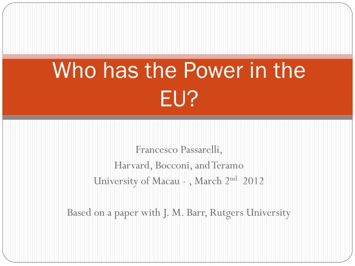 who has the power in the eu n.