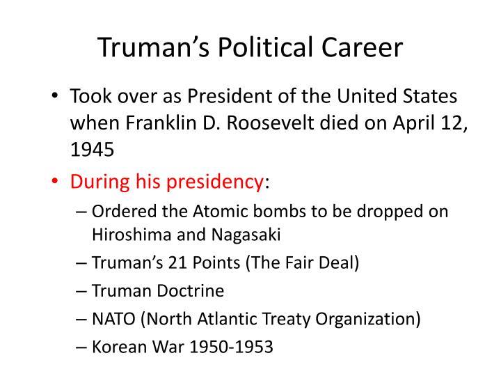 Truman's Political Career