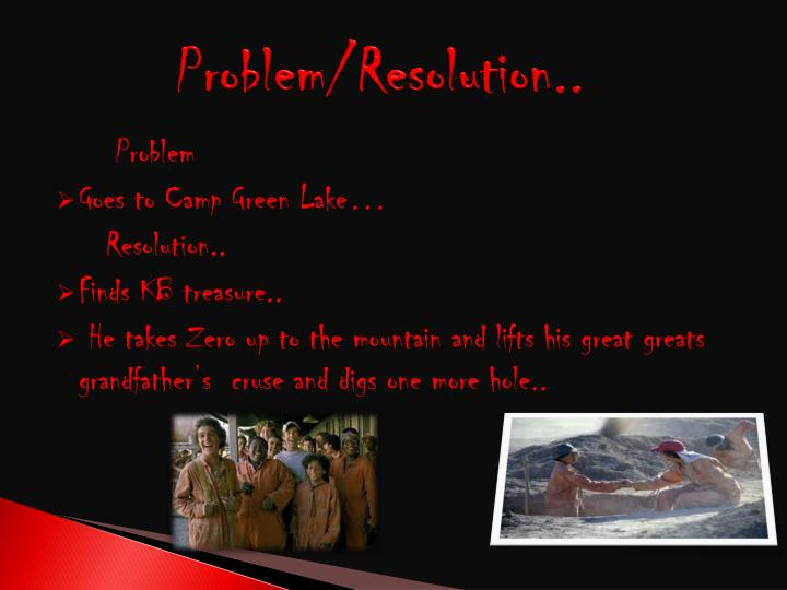 Problem/Resolution..