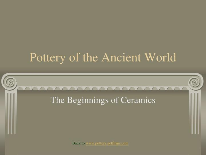 pottery of the ancient world n.