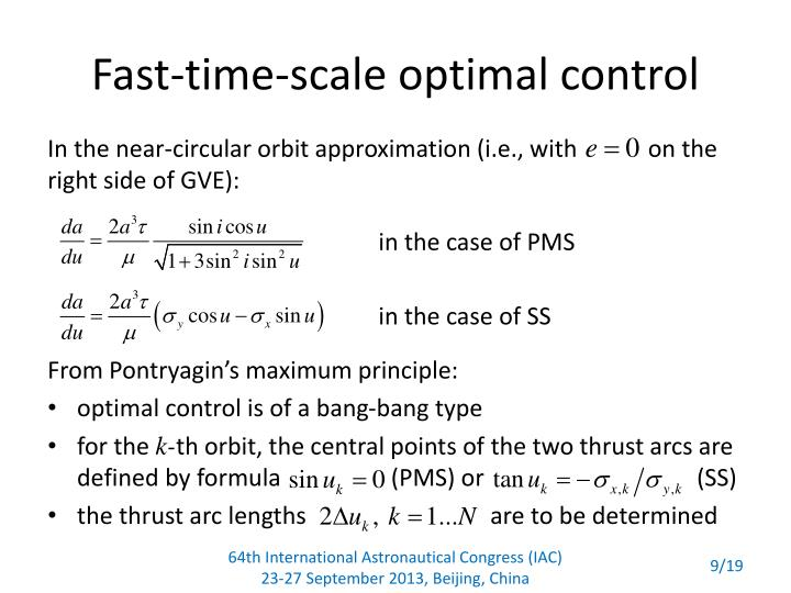 Fast-time-scale optimal control