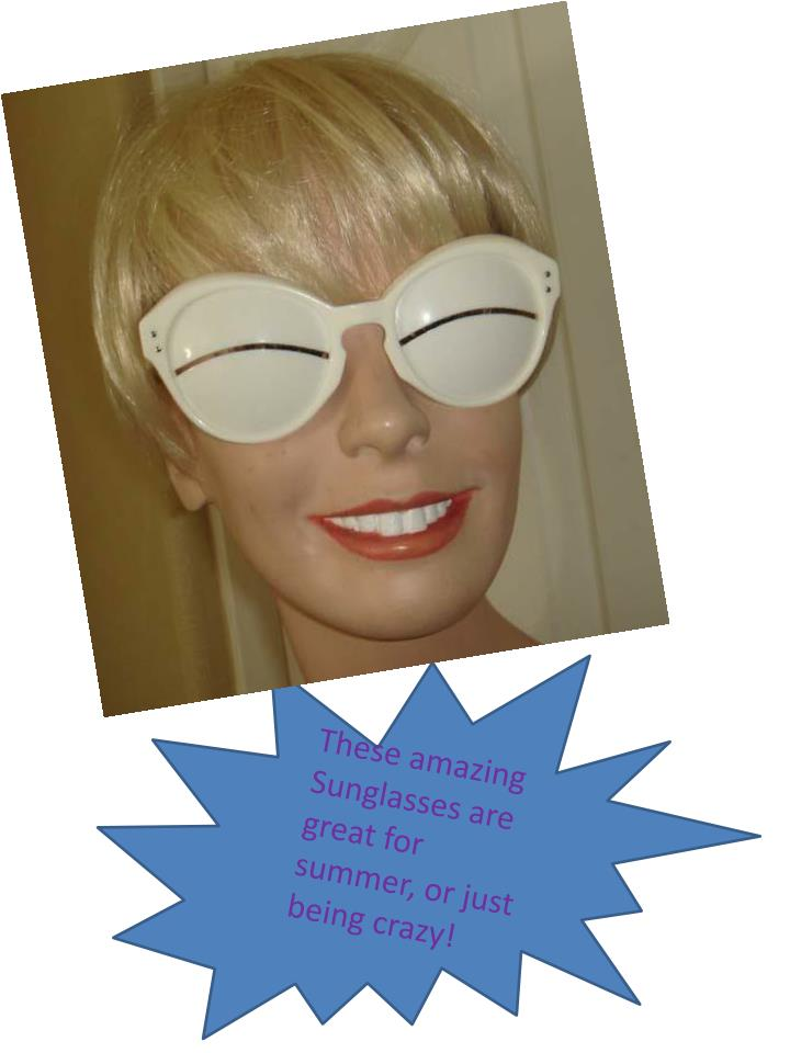 These amazing Sunglasses are great for summer, or just being crazy!