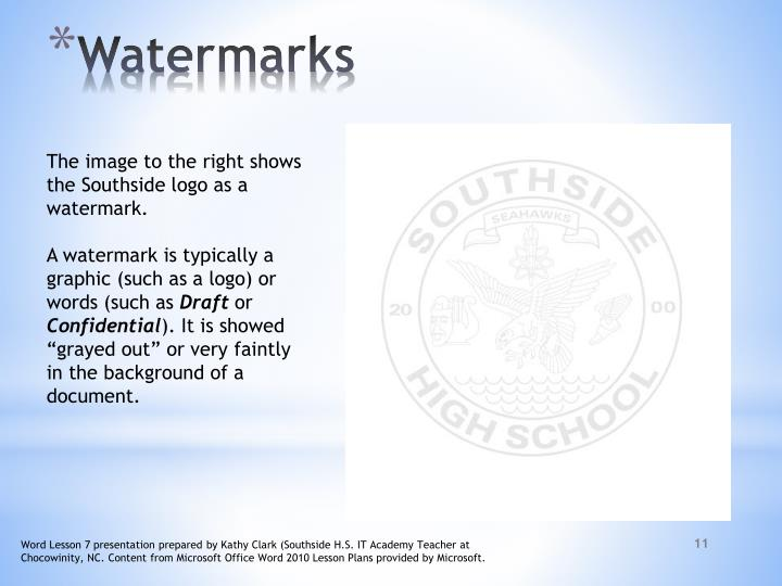 The image to the right shows the Southside logo as a watermark.