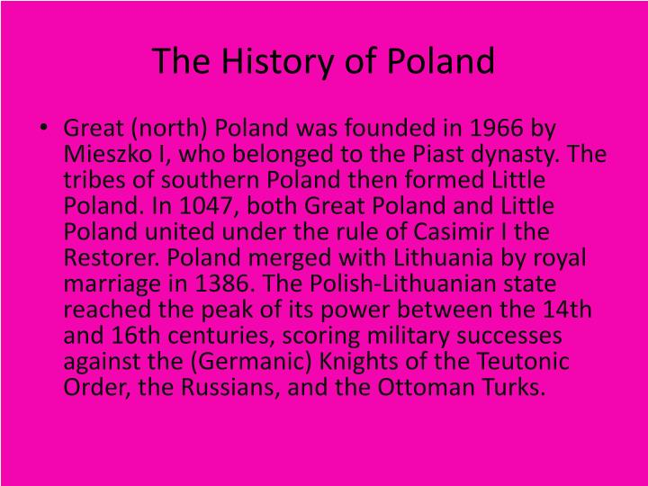 polands history and the poland of today In 1503, the polish monarchy appointed rabbi jacob polak, the official rabbi of poland jewish culture in poland exists largely in the background today, with intermarriage being the norm jewish culture and identity in poland today are being carried on by individuals who are not necessarily jewish.