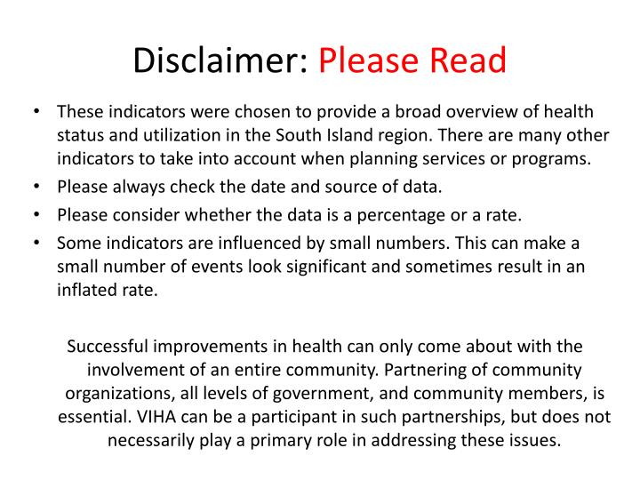 Disclaimer please read