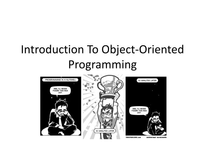 introduction to object oriented programming n.