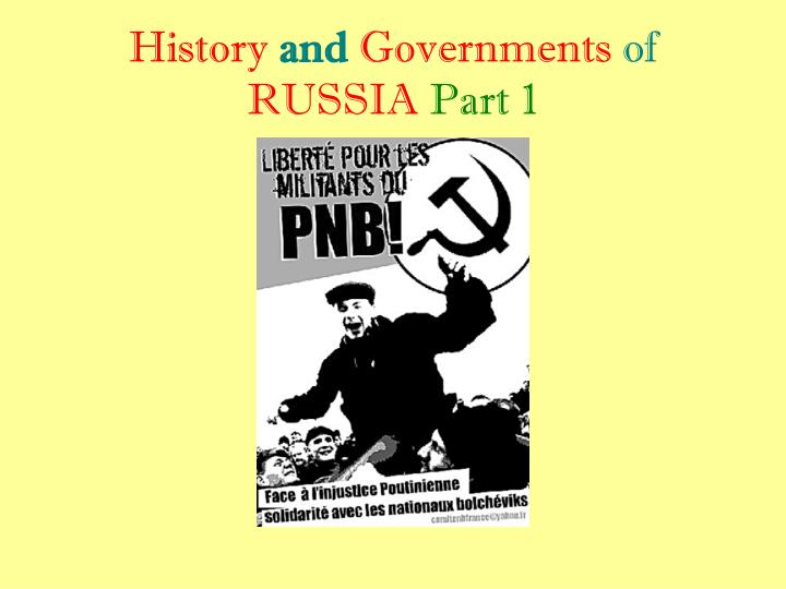 history and governments of russia part 1 n.