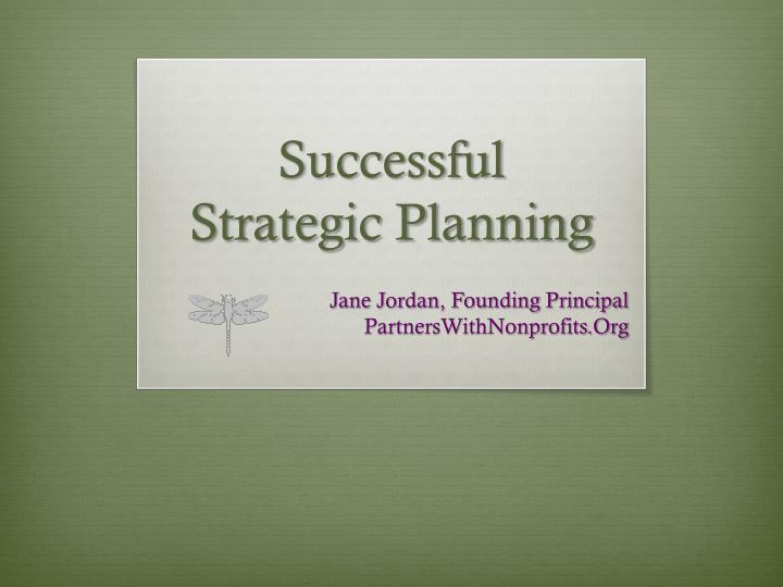 successful strategic planning n.