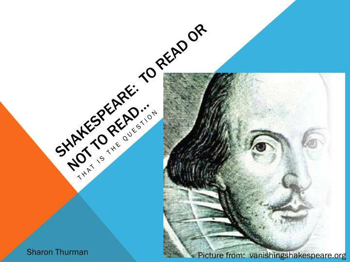 shakespeare to read or not to read n.