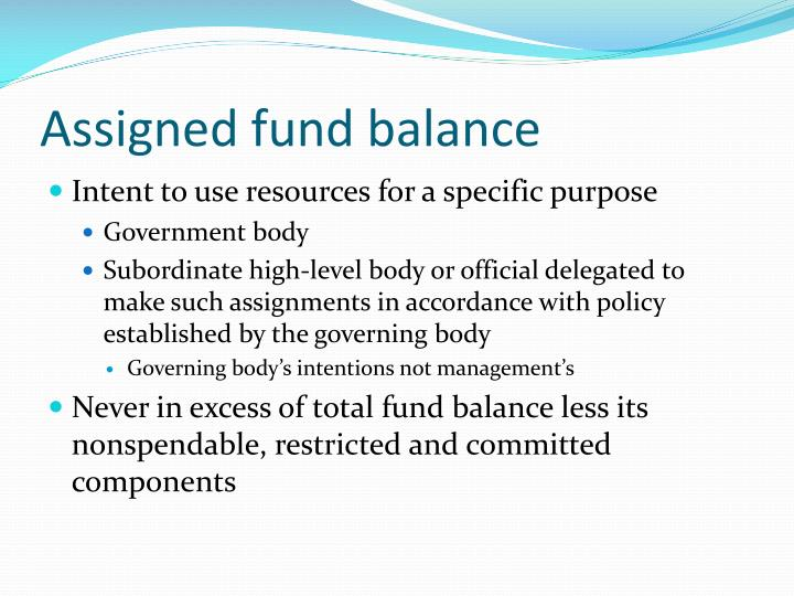 Assigned fund balance