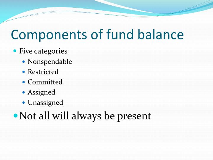 Components of fund balance