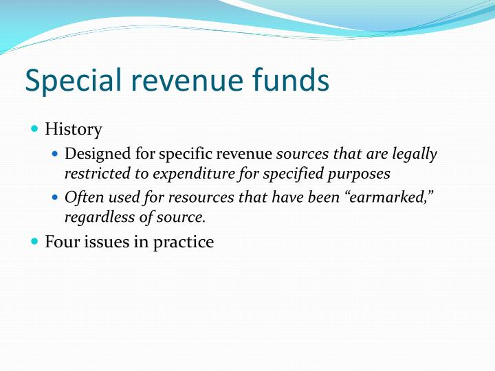 Special revenue funds